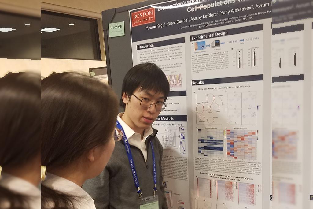 Yusuke Koga (Graduate student in Bioinformatics) - Yusuke presented a poster on Celda at the Keystone Single Cell Symposium (Jan, 2019).