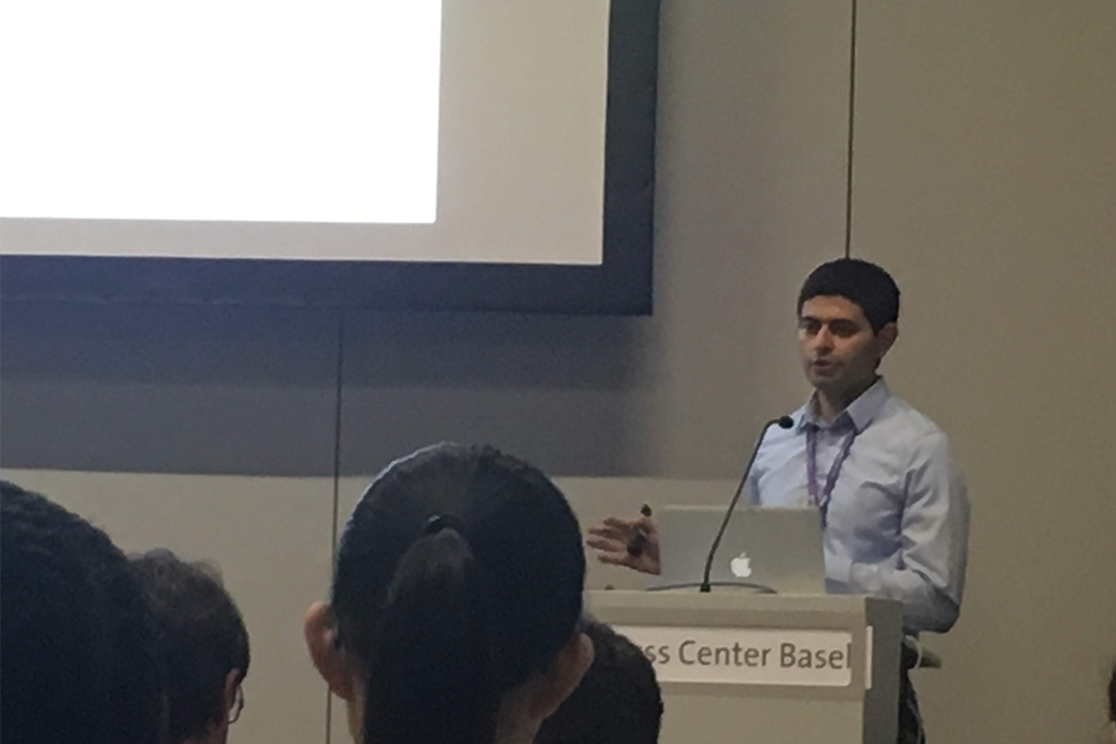 Ahmed Youssef (Graduate student in Bioinformatics) - Ahmed gave a presentation on using decision trees for marker selection in single cell data at the annual International Society for Computational Biology (ISMB) meeting (July, 2019).